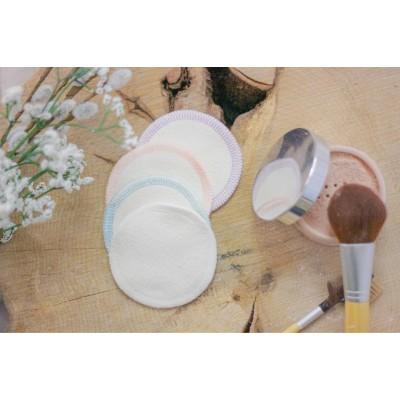 Tampons démaquillants lavables (paquet de 8) couleurs au choix