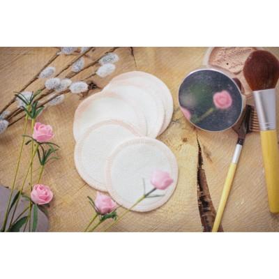 Tampons démaquillants lavables (paquet de 8) fil rose