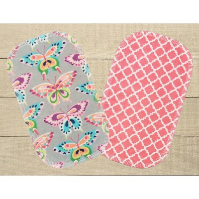 Lingettes hygiéniques: motif papillons revers ogee roses